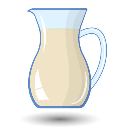 organic fluid: Milk colorful vector icon. Healthy milk for breakfast Illustration