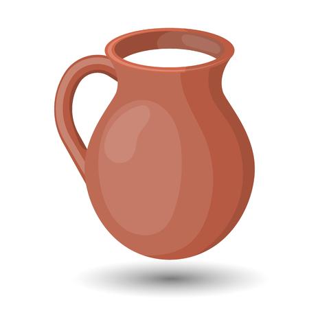 milkman: Milk colorful vector icon. Healthy milk for breakfast Illustration