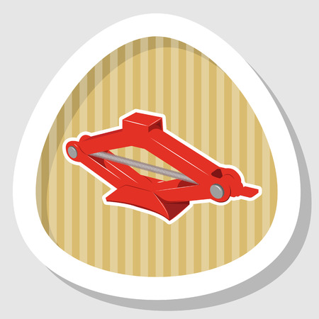puncture: Car jack icon. Car jack service equipment