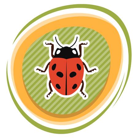ladybug: Ladybug colorful icon. Ladybug cute cartoon illustration Illustration
