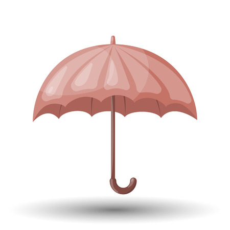 Vector illustration of classic elegant opened red umbrella