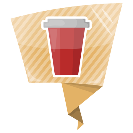 quench: Paper cup colorful icon. Vector illustration of paper cup