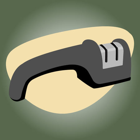 sharpener: Single knife sharpener icon. Vector colorful illustration Illustration