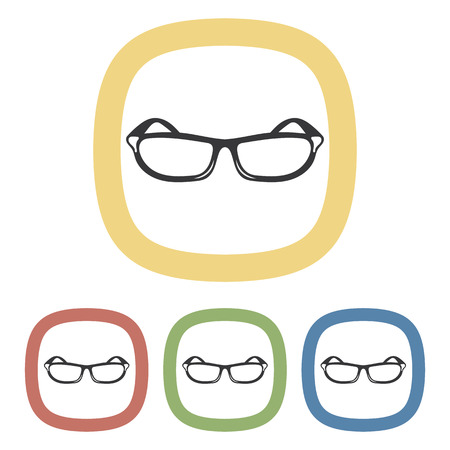 eyewear fashion: Sunglasses colorful icon an a white background Illustration