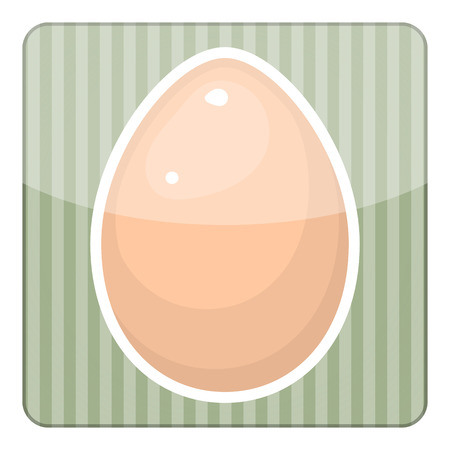 testicle: Egg vector colorful icon. Vector illustration of single egg