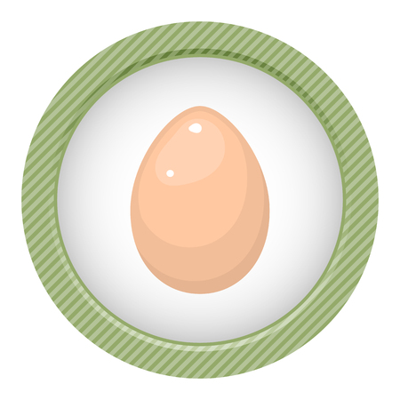 wite: Egg vector colorful icon. Vector illustration of single egg