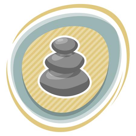 hillock: Spa stones illustration. Vector illustration in cartoon style