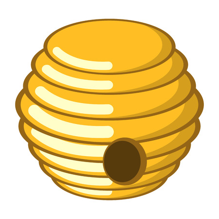 hive: Hive colorful icon. Vector illustration in cartoon style