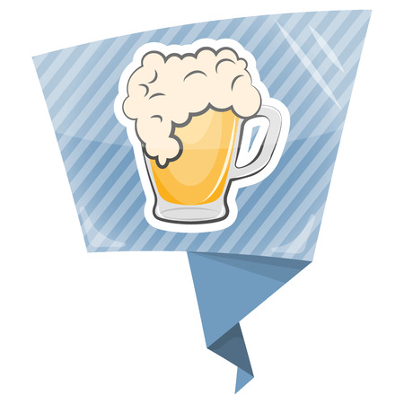 pint glass: Mug of beer colorful icon. Vector illustration in cartoon style