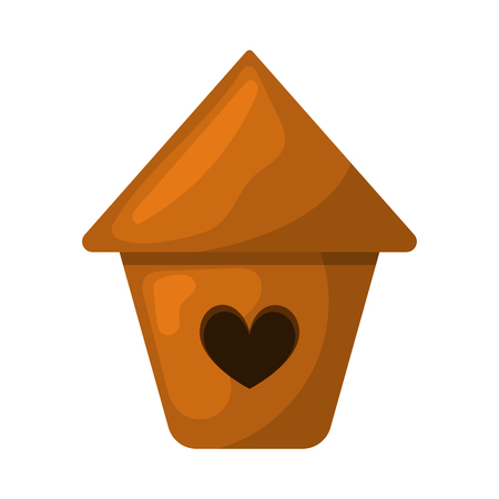 nesting: Nesting box colorful icon. Vector illustration in cartoon style Illustration