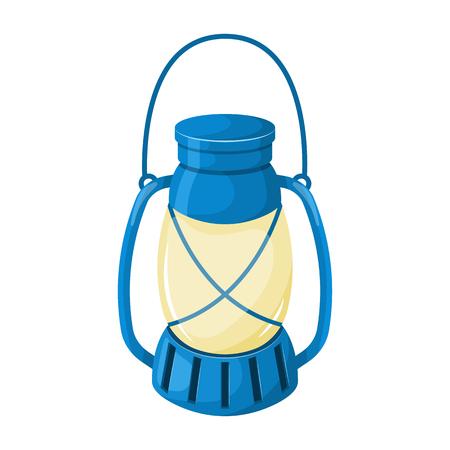 Kerosene lamp icon. Vector illustration in cartoon style