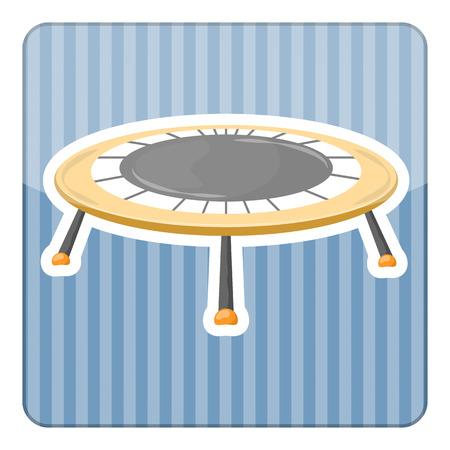 Trampolin-Symbol. Vektor-Illustration im Comic-Stil