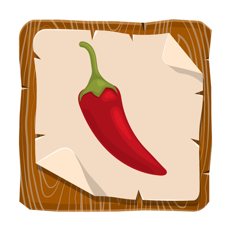 spicy: Vector illustration of single spicy chili pepper