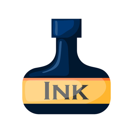 quick drawing: Vector ink bottle. Illustration in cartoon style Illustration