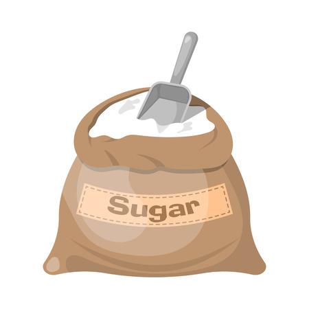 Ícone do saco de açúcar, Ícone do saco de açúcar eps 10, Sugar Ícone do saco do vetor, ícone do saco de açúcar jpg. ilustração vetorial