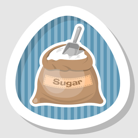 bagful: Sugar bag icon, Sugar bag icon, Sugar bag icon vector, Sugar bag icon jpg. Vector illustration