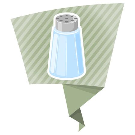SHAKER: Salt shaker cartoon icon. Vector illustration in cartoon style