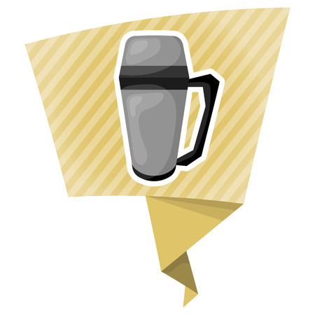 thermos: Vector illustration thermos icon cartoon design. Thermos for hot drink