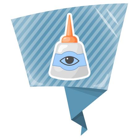 eye drops: Eye drops bottle. Vector illustration in cartoon style