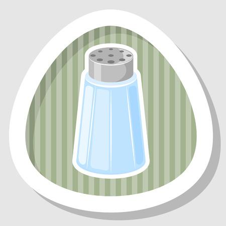 salt shaker: Salt shaker cartoon icon. Vector illustration in cartoon style