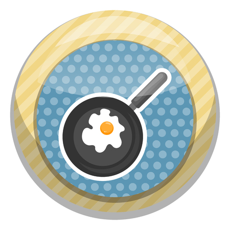 savory: Vector illustration of omelette. Flat designed style icon. Vector Illustration