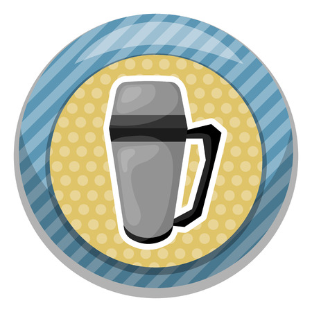 insulated drink container: Vector illustration  icon cartoon design.  for hot drink