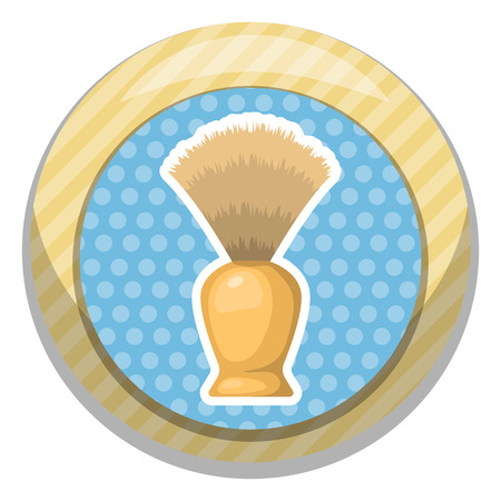 shaving brush: Shaving brush vector illustration in cartoon style Illustration