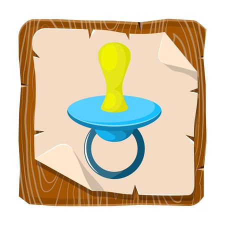 comforter: Illustration of baby pacifier in cartoon style Illustration