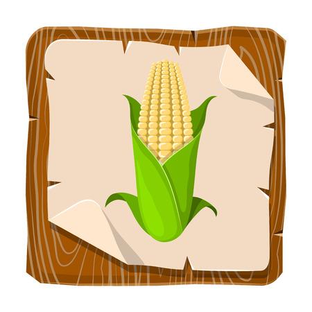 eatable: Corncob vector illustration. Vector illustration in cartoon style Illustration