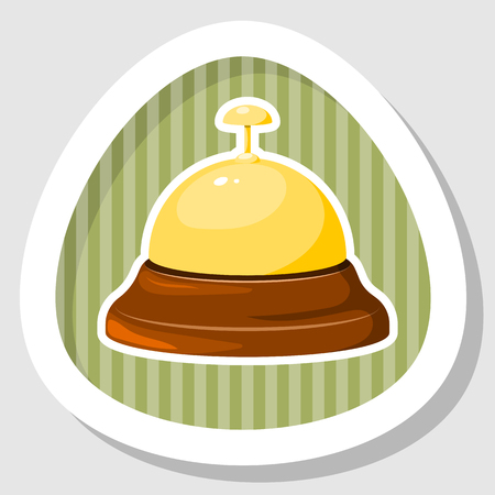 chiming: Reception bell icon. Vector illustration in cartoon style