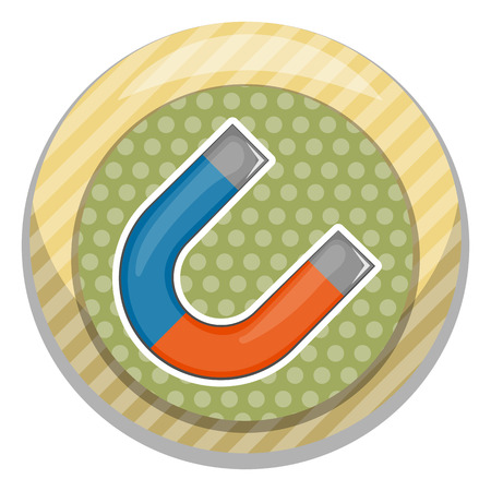 magnetization: Magnet colorful icon. Vector illustration in cartoon style Illustration
