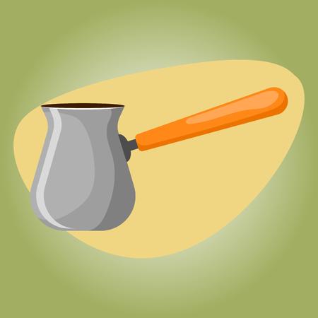 unrepeatable: Turk colorful icon. Vector illustration in cartoon style Illustration