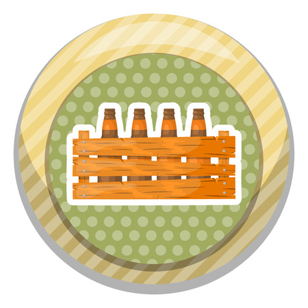 ice pack: Beer box icon. Vector illustration in cartoon style