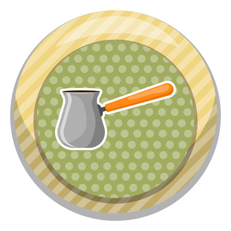 flavored: Turk colorful icon. Vector illustration in cartoon style Illustration