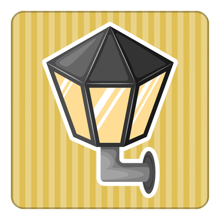 smithery: Street light colorful icon in cartoon style