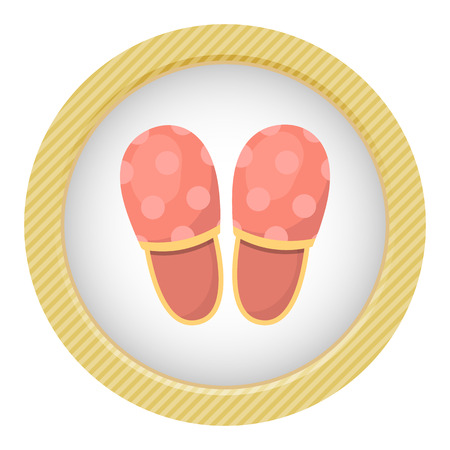 slippers: Vector illustration of home slippers. Soft fabric man home slippers