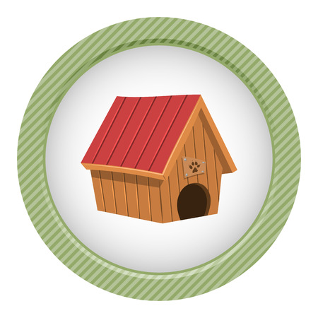 Doghouse colorful icon. Vector illustration in cartoon style Illustration