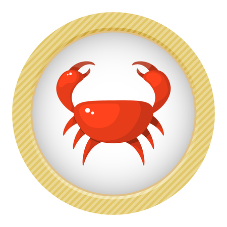 whole creature: Funny cartoon crab. Vector illustration in cartoon style Illustration