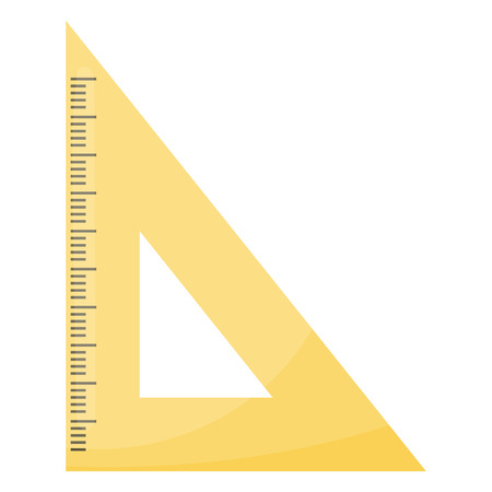 millimeters: Rule triangle school isolated icon vector illustration design