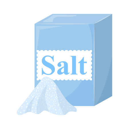 Pack of Salt. Vector illustration in cartoon style