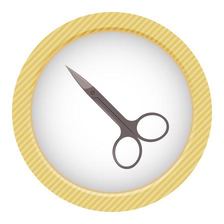 Nail scissors icon. Illustration in cartoon style