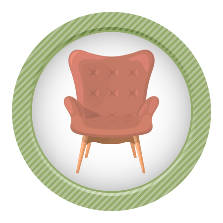 cozy: Armchair vector illustration isolated on a white background.