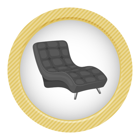 flattery: Armchair vector illustration isolated on a white background.
