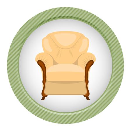 Fotel ilustracji wektorowych samodzielnie na białym tle.