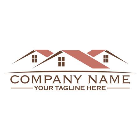 House building logo design template, eps 10 Illustration