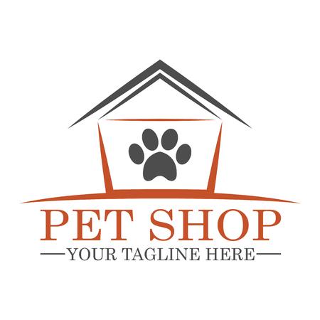 pet cat: Pet Shop Logo Template Design vector eps 10 Illustration