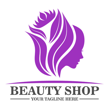 Beauty shop logo design template vector eps 10 Illustration