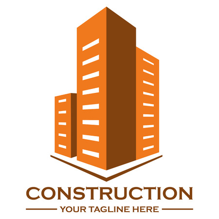 building lot: House building logo design template, eps 10 Illustration