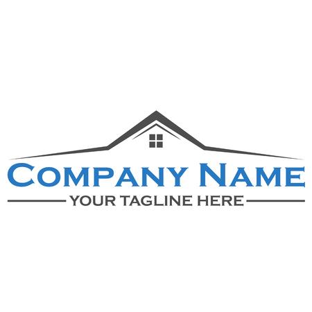 house logo: House building logo design template Illustration