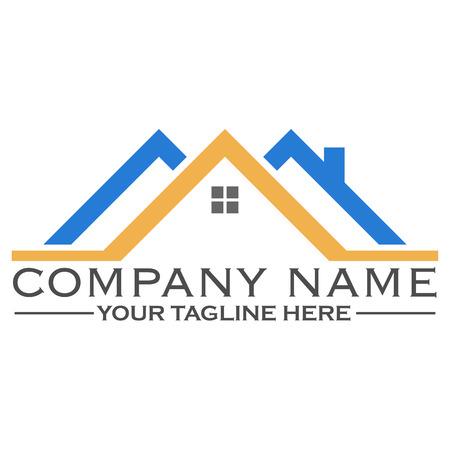 house logo: House building logo design template, eps 10 Illustration